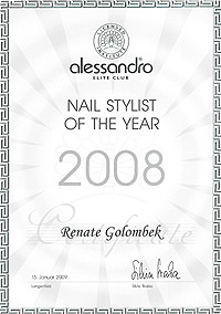 Renate Golombek Nail Stylist Of The Year 2008